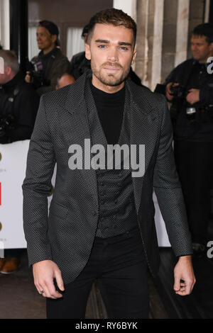 London, UK. 12th Mar, 2019. LONDON, UK. March 12, 2019: Josh Cuthbertson arriving for the TRIC Awards 2019 at the Grosvenor House Hotel, London. Picture: Steve Vas/Featureflash Credit: Paul Smith/Alamy Live News - Stock Image