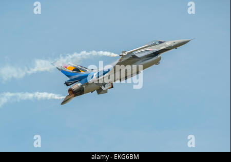 Belgian Air Force F16 at RIAT 2014 - Stock Image