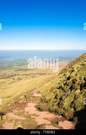 Twmpa (Lord Hereford's Knob) as seen from below Hay Bluff, Hay-on-Wye Powys UK. March 2019 - Stock Image