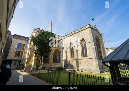 Holy Trinity Church from Sidney Street Cambridge 2019 - Stock Image
