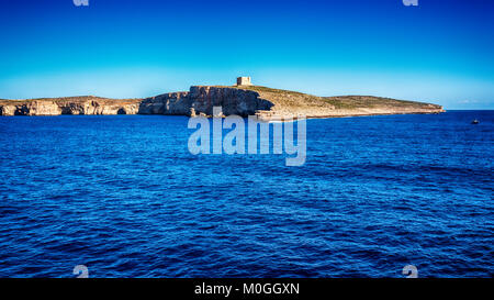 Malta: Comino, Maltese: Kemmuna, a small island of the Maltese Archipelago - Stock Image