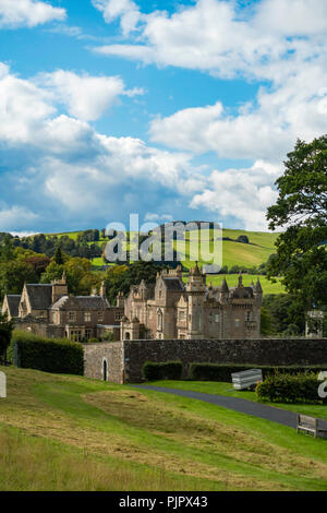 Sir Walter Scott's home Abbotsford Melrose Scotland seen from the visitors café - Stock Image