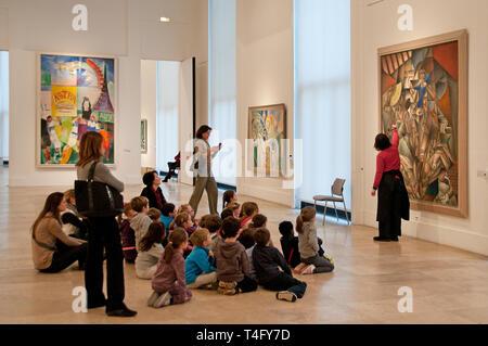 Musee'd Art  Moderne Art de la Ville de Paris France French Museum of Modern art of the City of Paris - Stock Image