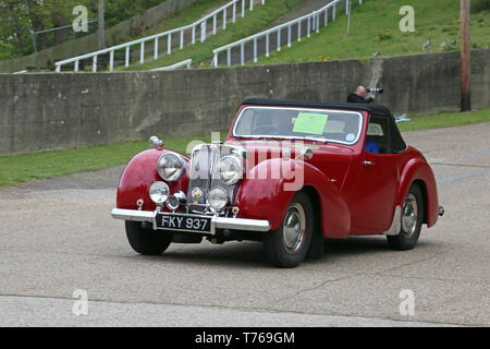 Triumph 2000 Roadster (1949), British Marques Day, 28 April 2019, Brooklands Museum, Weybridge, Surrey, England, Great Britain, UK, Europe - Stock Image
