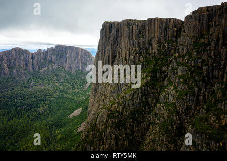View to the Acropolis from Mount Geryon in Cradle Mountain–Lake St Clair National Park, Tasmania - Stock Image