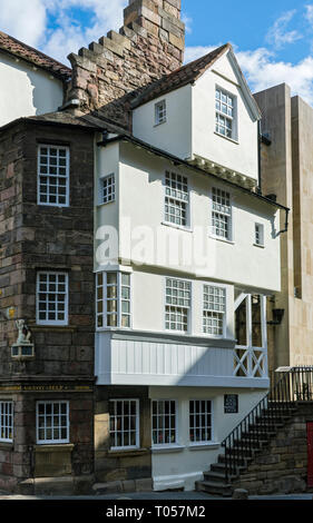 The John Knox House, High Street, Royal Mile, Edinburgh, Scotland, UK - Stock Image