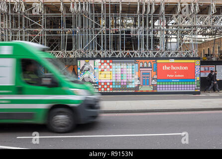 The Hoxton Southwark, a new hotel on Blackfriars road in London, under construction in January 2018 - Stock Image