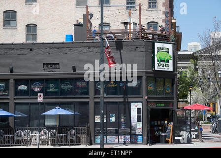 Green Pig Neighborhood Pub and Grill - Salt Lake City, Utah - Stock Image