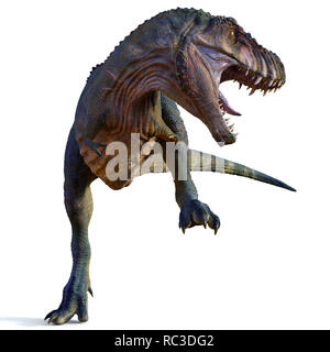 Tyrannosaurus Male Dinosaur - Tyrannosaurus was a carnivorous theropod dinosaur that lived in North America during the Cretaceous Period. - Stock Image