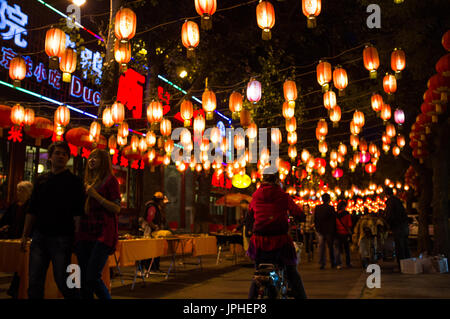 Guijie knotted as the street of spirits, Beijing, China - Stock Image
