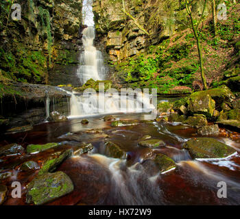 Mill Gill Waterfall - Stock Image