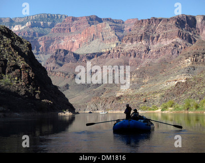 A few rafters silhouetted in the Grand Canyon, Arizona, USA. - Stock Image