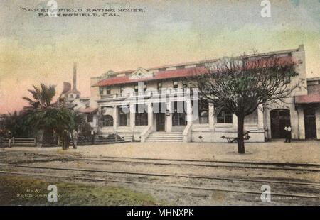 Fred Harvey Eating House, Bakersfield, Kern County, USA.      Date: circa 1910 - Stock Image