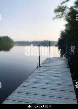 Pier in northern Wisconsin - Stock Image