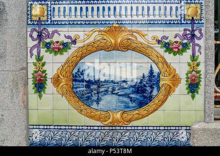 Quinta da Boeira, Azulejo, Vila Nova de Gaia, Porto, Portugal Porto, Portugal - Stock Image