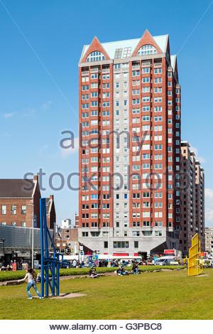 Markthal park, Rotterdam, Holland, 2016 - Stock Image
