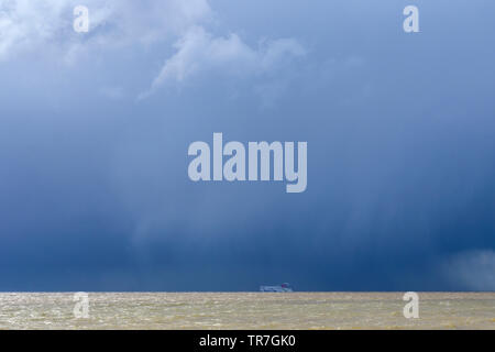 Stena Line car ferry leaving Harwich on route to Hook van Holland - Stock Image