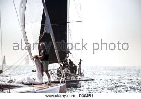Yachts at sea - Stock Image