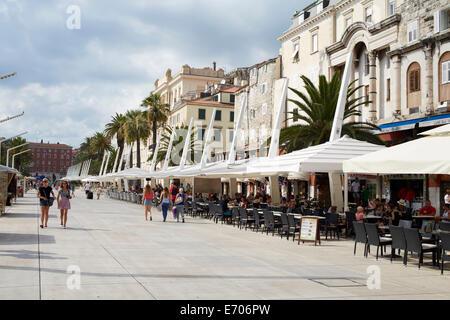Split, Croatia, seafront. Split is the second biggest city in Croatia - Stock Image