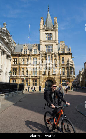 Gonville and Caius College from Senate House Hill Cambridge 2019 - Stock Image