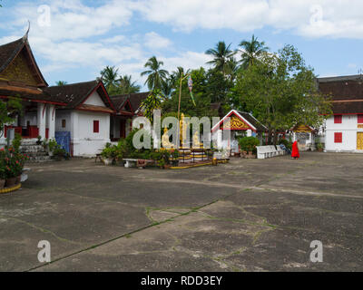 Luang Prabang Royal Palace and national museum is a set of buildings in French colonial style dating back to the year 1904 it has been converted into  - Stock Image