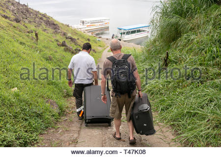 About to board private transfer across Lake Arenal, Costa Rica - Stock Image