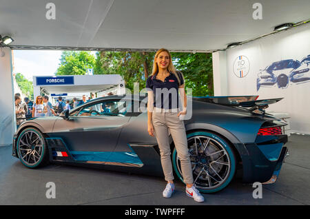 Turin, Piedmont, Italy. 22nd June 2019. Italy Piedmont Turin Valentino park Auto Show 2019 - Bugatti stand Credit: Realy Easy Star/Alamy Live News Credit: Realy Easy Star/Alamy Live News - Stock Image