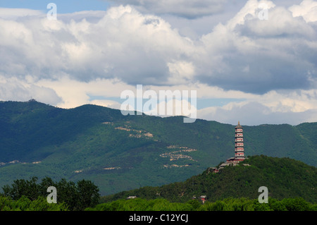 Jade Peak Pagoda of Summer Palace in Beijing - Stock Image