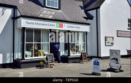 Tourist Information Office building,  Chepstow, Monmouthshire, Wales, UK - Stock Image