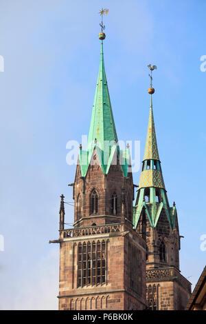 Germany, Bavaria, Nürnberg, Nuremberg, St Lawrence Church, Lorenzkirche, - Stock Image