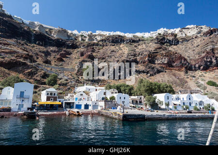 Santorini Caldera Greece - Stock Image