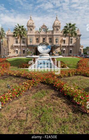 Casino de Monte-Carlo, outside on summers day, Monaco, France. - Stock Image