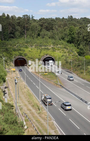 Southern Portal, Hindhead Tunnel, Surrey, A3 June 2018 - Stock Image