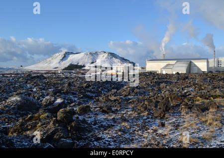 Svartsengi geothermal electrical power station near Grindavik, Iceland. - Stock Image
