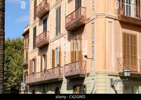 Altes Gebäude, Placa de la Reina, Palma, Mallorca, Spanien. - Old building, Placa de la Reina, Palma, Majorca, - Stock Image