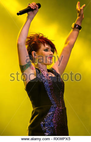 SCISSOR SISTERS (Ana Matronic) performing live, 14 july 2011 - Stock Image