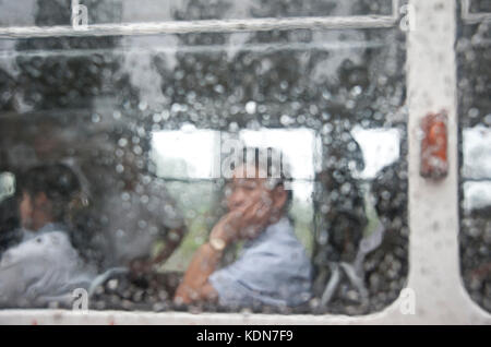 Pluie à Pyongyang le 13 octobre 2012. Rain in Pyongyang 13 of October 2012. - Stock Image