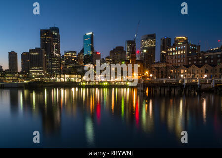 city skyline and reflection - Stock Image
