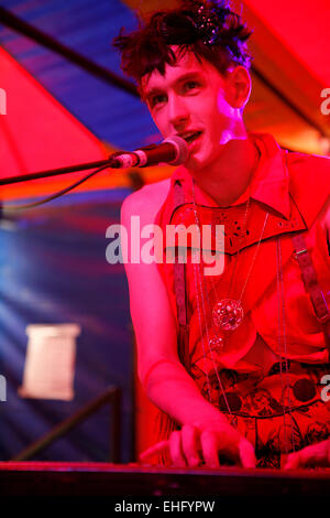 Patrick Wolf live at Underage Festival in Victoria Park London. - Stock Image