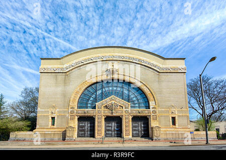 Rodef Shalom Congregation is a National Register of Historic Places landmark in Pittsburgh, Pennsylvania, designed by architect Henry Hornbostel. - Stock Image