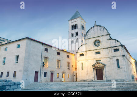 geography / travel, Croatia, Dalmatia, Zadar, historic centre of town, Roman ruins and medieval buildings, Additional - Stock Image