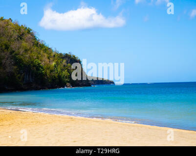 Sandy beach in St Lucia, The Caribbean - Stock Image