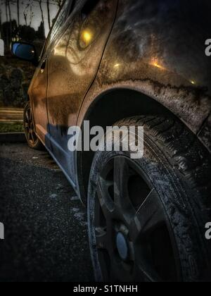 Dirty car - Stock Image