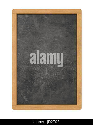 3D render of Chalkboard with wooden frame. Scratched and worn texture. Blank for Copy Space. - Stock Image