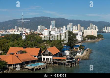 Georgetown skyline, Penang, Malaysia - Stock Image