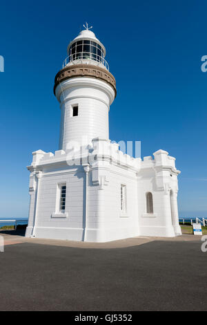 Cape Byron Lighthouse in Byron Bay. - Stock Image