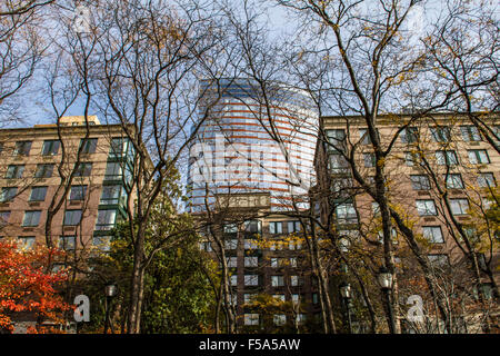 Lower Manhattan, View from Battery Park, New York, United States of America - Stock Image