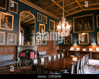 Dinning room in Eastnor castle in Britain - Stock Image