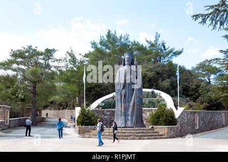 Kykkos Monastery and Tomb of Archbishop Makarious III, Kykkos, Troodos Mountains, Limassol District, Republic of Cyprus - Stock Image