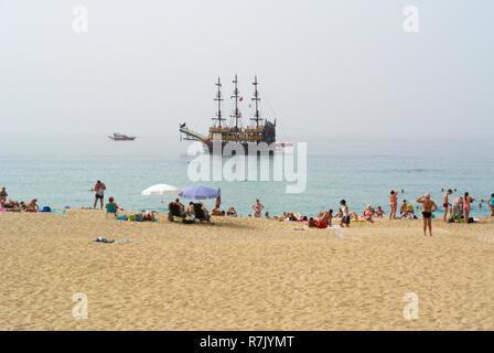 Damlatas beach, Alanya, Turkey, Eurasia - Stock Image